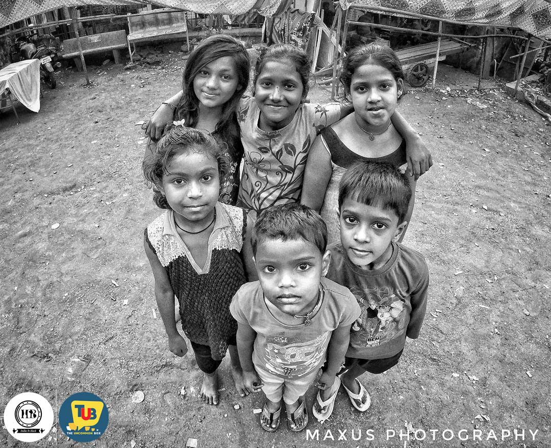 Spreading Smiles With Children on Children's Day - A Special Collaborative Photowalk By TheUncommonBox India In Black & Halla.In